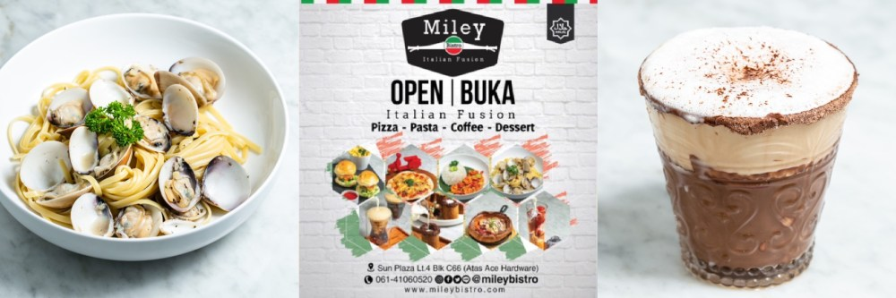 miley italian food medan