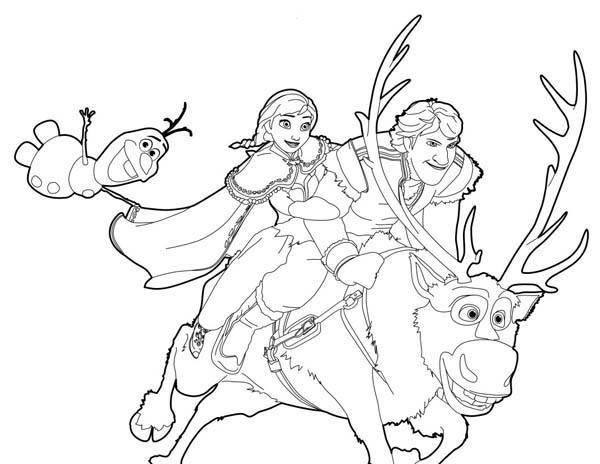 5 Dibujos para imprimir de Frozen y el reino del hielo