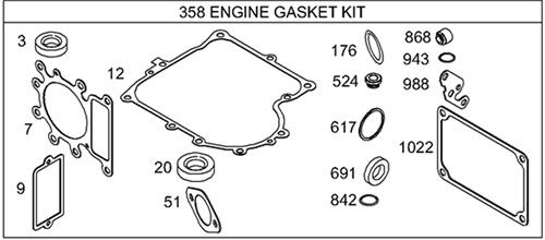 Genuine Briggs & Stratton 495993 Complete Gasket Set