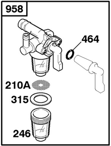 Genuine Briggs & Stratton 715901 Fuel Shut-off Valve
