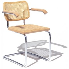 Marcel Breuer Cesca Chair With Armrests Havertys Dining Chairs Knoll - Milia Shop