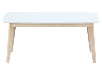 banc design 100 cm blanc et bois leena