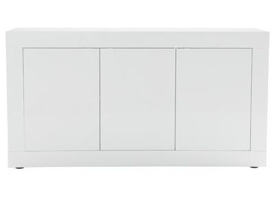 buffet design laque blanc 160 cm latte