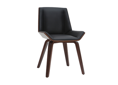 chaise design noir et bois fonce melkior