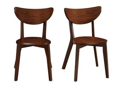 chaises design noyer lot de 2 leena