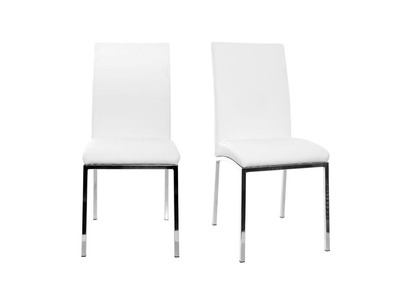 chaises design polyurethane blanc lot de 2 simea