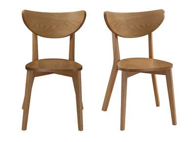 chaises scandinaves finition chene lot de 2 leena