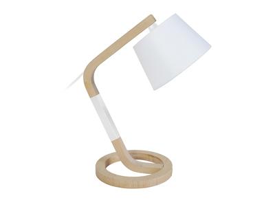 lampe a poser design pied cercle bois blanc twist