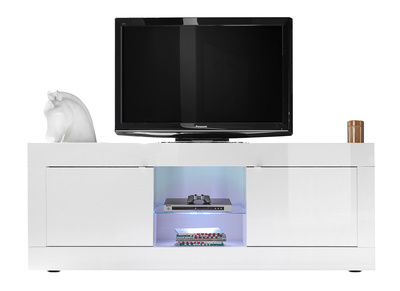 meuble tv design laque blanc 180 cm latte