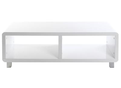 meuble tv design laque brillant blanc pixy