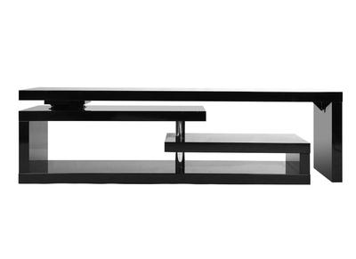 meuble tv design laque brillant noir pivotant max v2