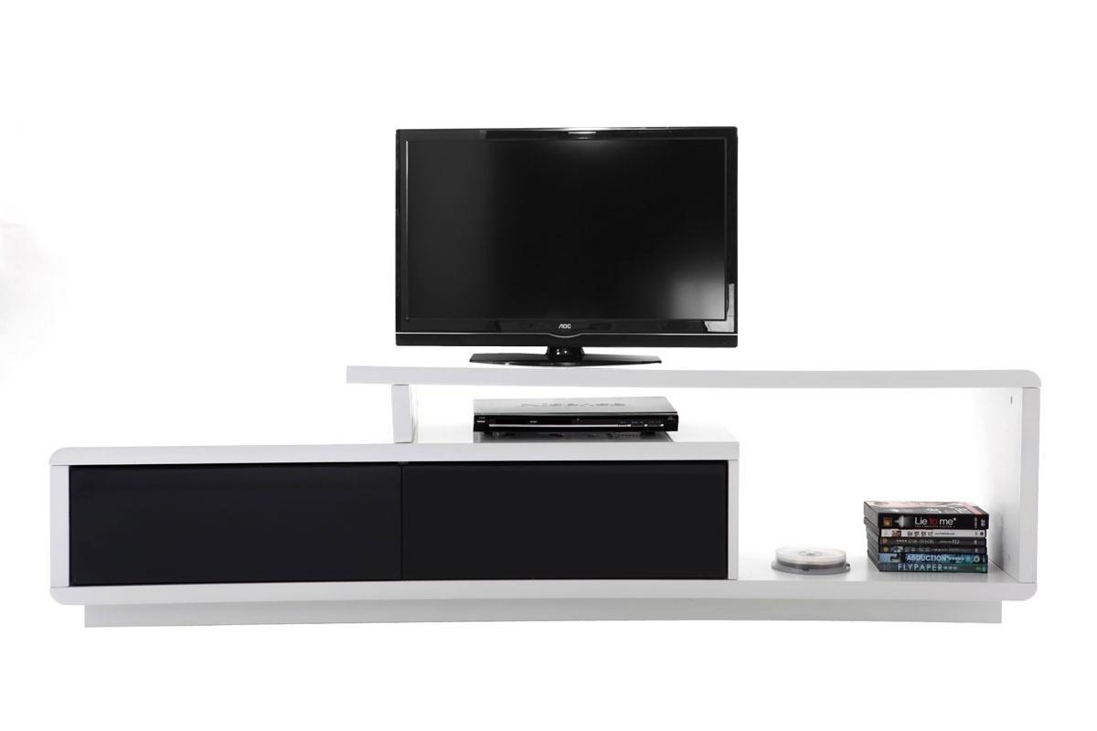Meuble tv blanc laqu fly ensemble meuble tv ikea meuble for Petit meuble tv blanc