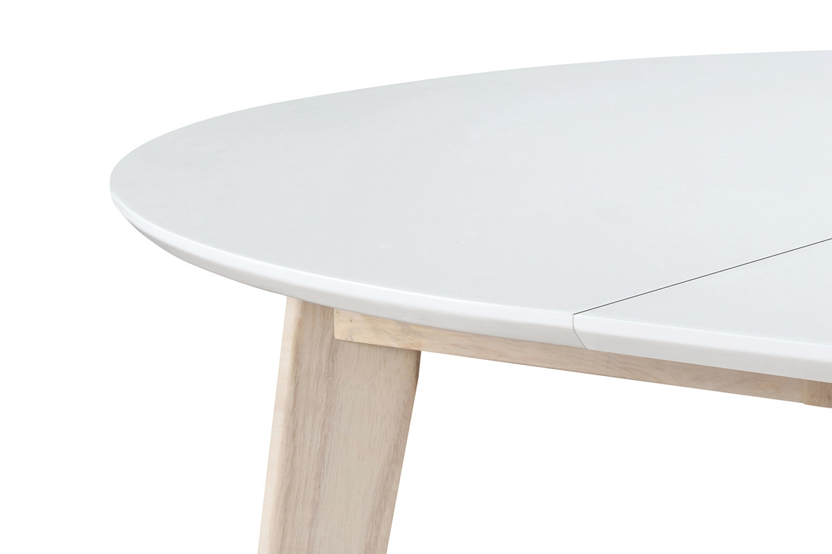 table a manger ronde extensible blanc