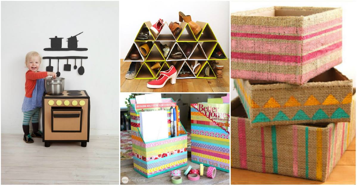 Grandiosas ideas para hacer manualidades con cajas de cartn  Mi Libro De Ideas
