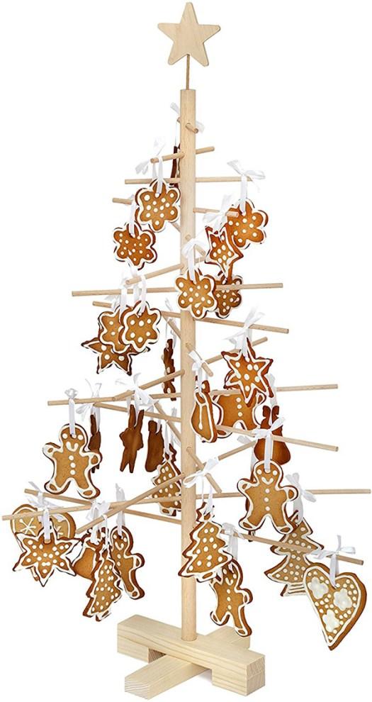 Árbol de navidad desmontable minimalista y pequeño de madera