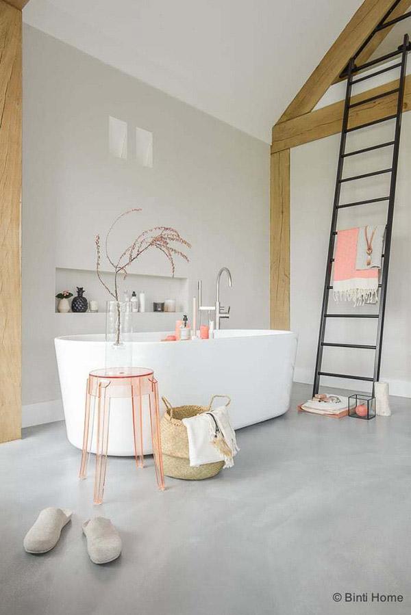 Feng Shui banyosu için renkler: Sıcak beyazlar