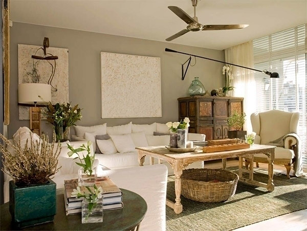 Oturma odası için Feng Shui renkleri: Greige
