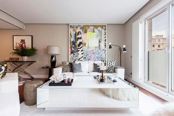 Oturma odası için Feng Shui renkleri: Yumuşak kahverengi