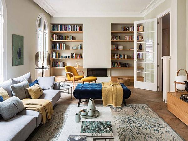 Oturma odası için Feng Shui renkleri: Kum