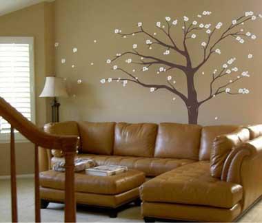 Fotos e ideas para pintar y decorar las paredes con arboles