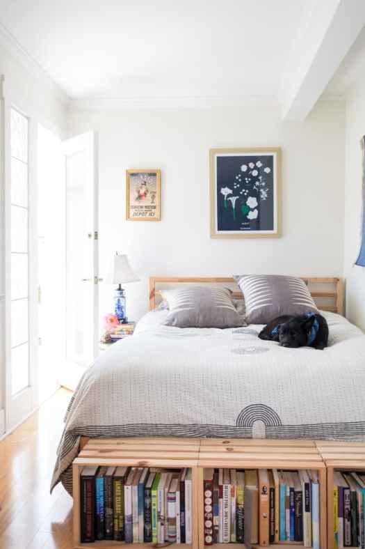 Cajas de madera para decorar el pie de cama