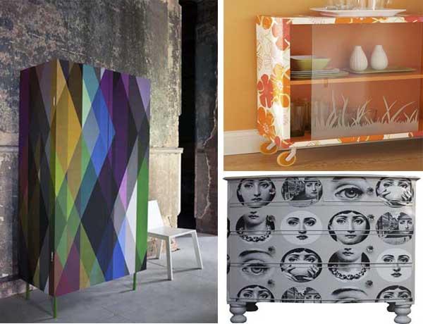 25 fotos e ideas para decorar un mueble con papel pintado