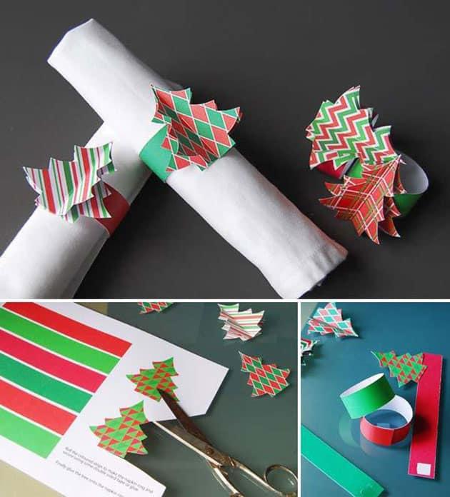 Peçeteyi katlama ve Noel masasında sunma fikri