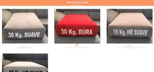 Espuma y relleno de sofás a medida