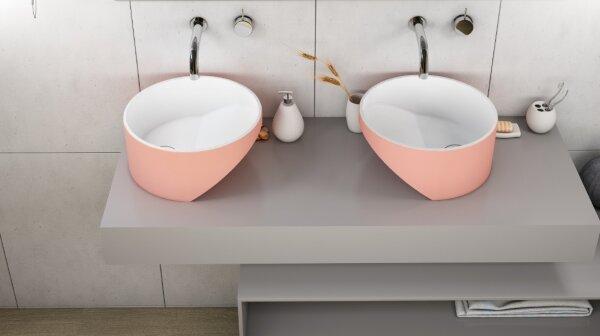 ZenPlus Mink Pink tasarım lavabo