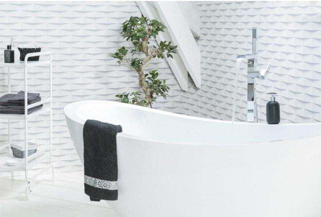 Grosfillex'ten banyo için 3 boyutlu yapışkan karo