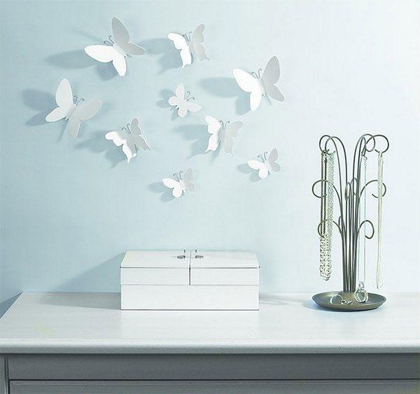Mariposas en 3D para decorar las paredes  Mil Ideas de