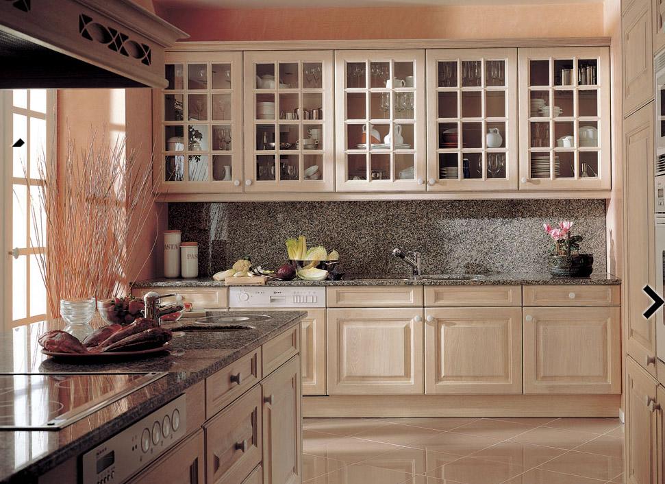 Muebles de cocina lacados laminados de madera o