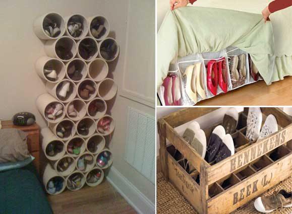 10 Ideas originales y prcticas para organizar los zapatos