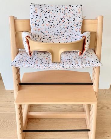 coussin de chaise haute terrazzo tripp trapp stokke charlotte