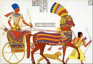 Ägyptischer Streitwagen Quelle: http://www.pernefer.de/schebenu.htm
