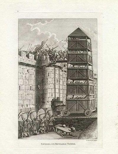 Belagerungsturm im mittelalterlichen England