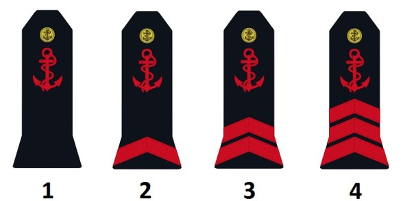 Team's ranks of the French navy