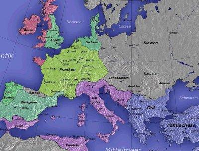 Europa nach dem Zerfall des weströmischen Reiches