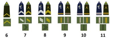 Sottufficiali e ufficiali dell'esercito francese