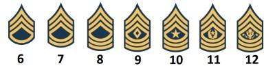Unteroffiziere mit Portepee der US Army