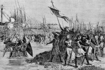 路德维希国王九世。 和第七次十字军东征