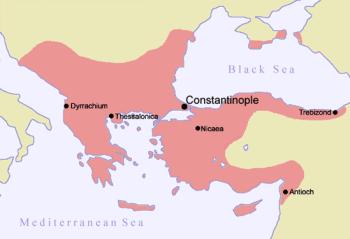 Das Byzantinische Reich um 1185