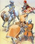 Französische Soldaten im Hundertjährigen Krieg