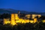 Fortaleza musulmana de la Alhambra, Granada en España