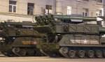 Russische Flugabwehr Raketen SA-11 auf der Truppenparade