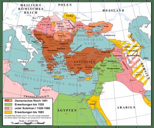 Expansion et plus grande expansion de l'Empire ottoman entre 1481 et 1681