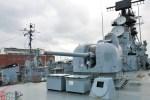 Cañón de popa de un buque de guerra