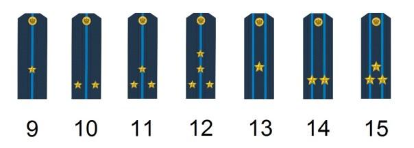 Russische Offiziersdienstgrade Luftwaffe
