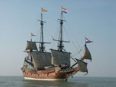 Reproduction of the Batavia under sails