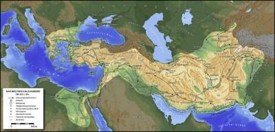 Курс кампании Александра через Персию